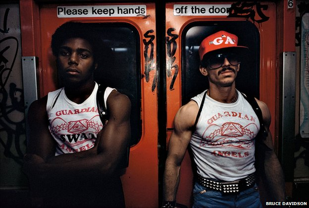 Guardian Angels on the New York subway