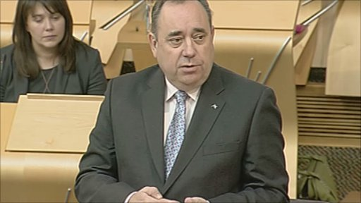 First Minister Alex Salmond delivers his government's legislative programme.