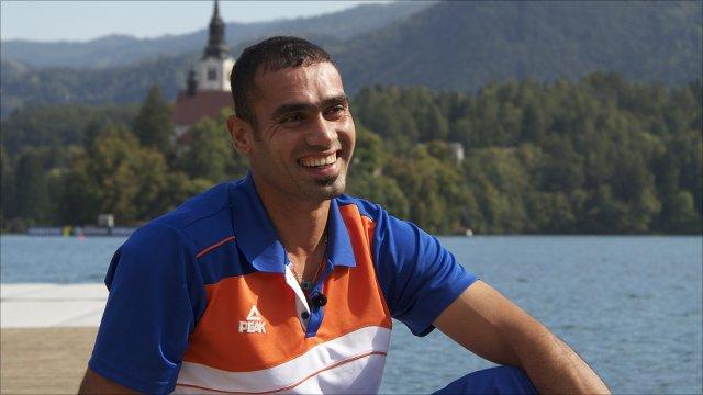 Iraqi rower Haider Rashid