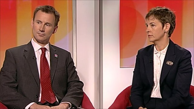 Jeremy Hunt and Mary Creagh