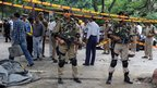 Indian soldiers outside Delhi court building, 7 September