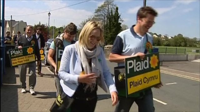 Plaid Cymru campaigners