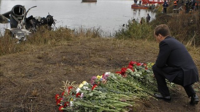 Medvedev at crash site