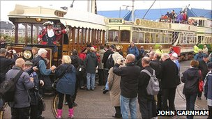 Blackpool heritage trams