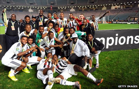 DR Congo's TP Mazembe celebrate winning the 2010 African Champions League