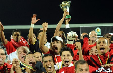 Morocco's FUS Rabat celebrate winning the Confederation Cup