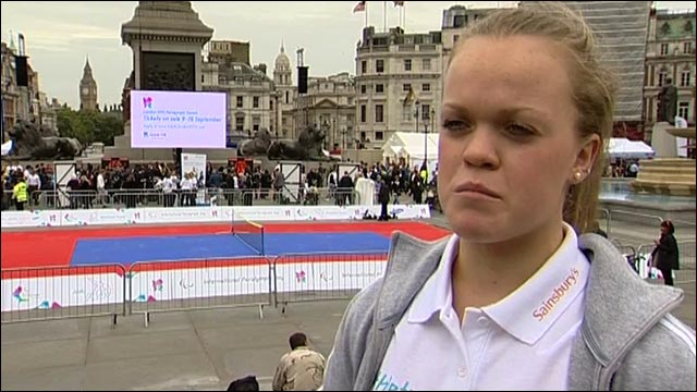 Double Beijing 2008 Paralympic gold medallist Ellie Simmonds