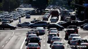 Traffic grinds to a halt in San Diego after a blackout. Photo: 8 September 2011