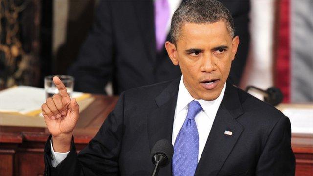 Barack Obama addressing Congress