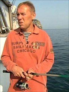 Andrei Lugovoi fishing