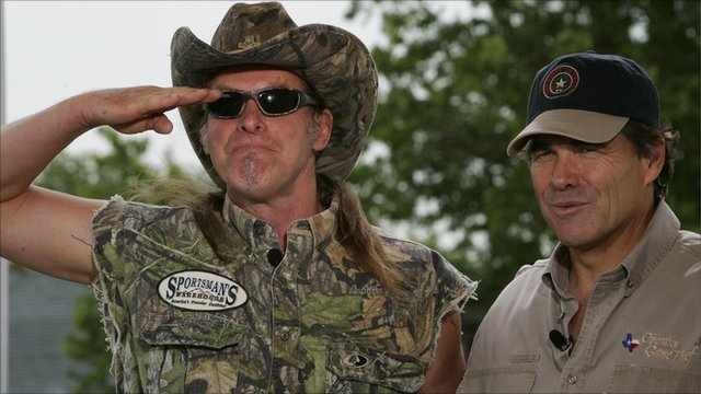 Ted Nugent (left) with Texas Governor Rick Perry