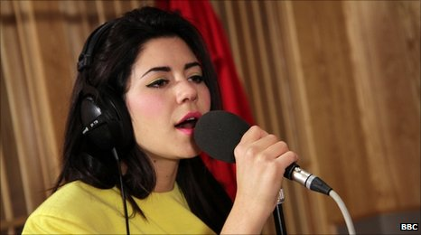 Marina and the Diamonds performing in the Radio 1 Live Lounge.