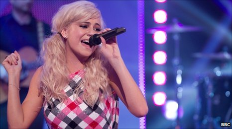 Pixie Lott performing on BBC Children in Need in 2010