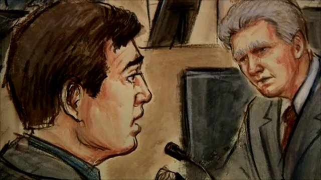 Court sketch of Andy Burnham