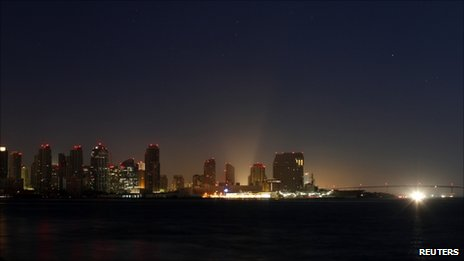 The city of San Diego remains in the dark following a power outage September 8, 2011.