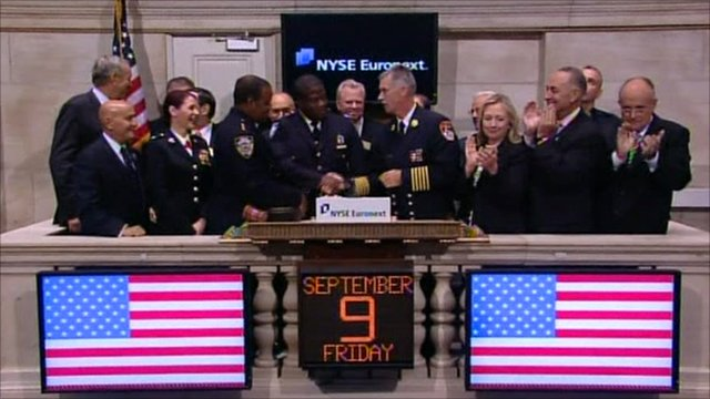 Hillary Clinton at the New York Stock Exchange