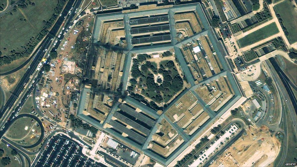 Pentagon - taken 12 September 2001