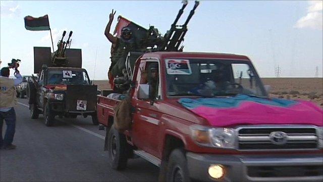 Anti-Gaddafi troops