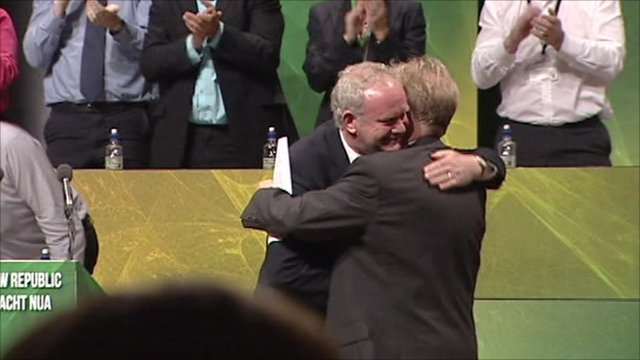 Martin McGuinness and David Latimer