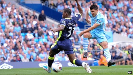 Manchester City&#039;s Sergio Aguero