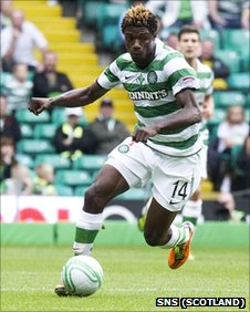 Celtic striker Mohamed Bangura