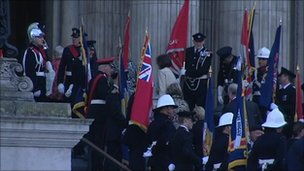 People being arriving at St Paul's Cathedral