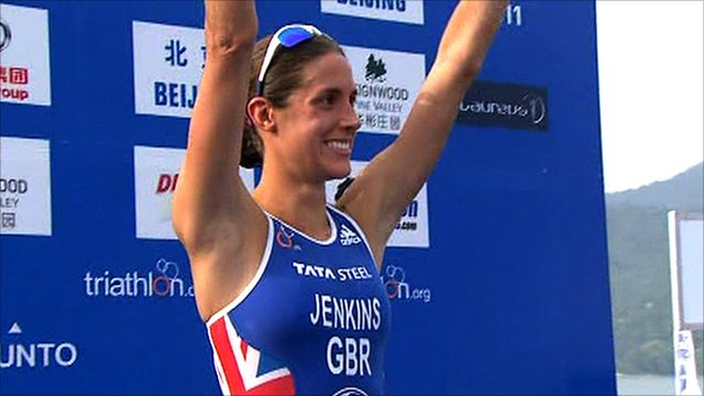 British triathlete Helen Jenkins