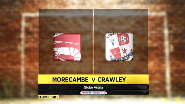 Morecambe 6-0 Crawley Town