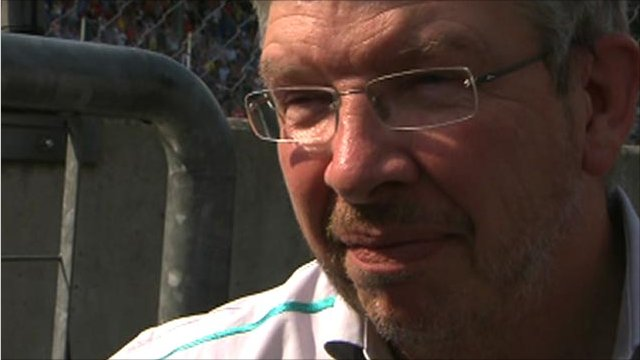 Mercedes GP team principal Ross Brawn