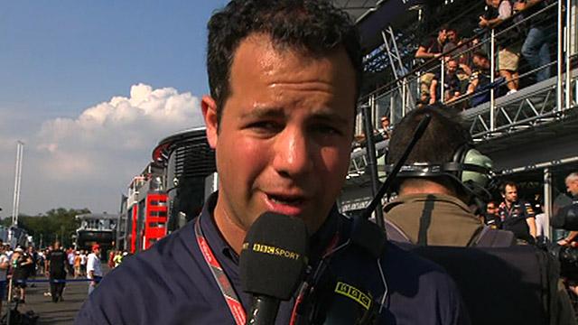 BBC F1 reporter Ted Kravitz