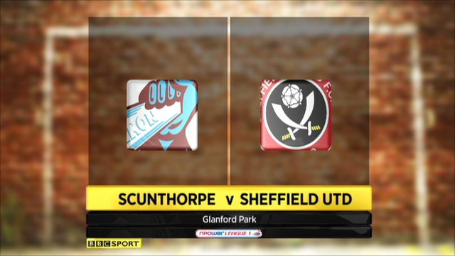 Scunthorpe 1-1 Sheffield Utd