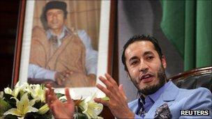 Saadi Gaddafi, 2011
