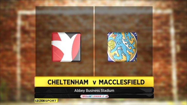 Cheltenham 2-0 Macclesfield