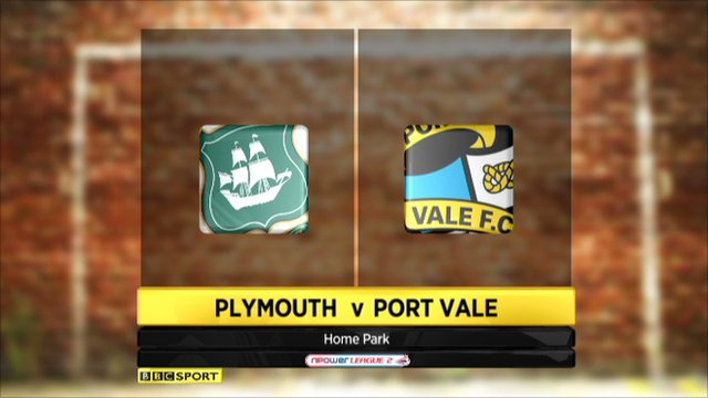 Plymouth 0-2 Port Vale