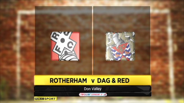 Rotherham 3-1 Dag and Red