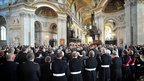 """Firefighters attend a memorial service at St Paul""""s Catherdral, London, to commemorate the tenth anniversary of the 9/11 terrorist attacks in the America."""
