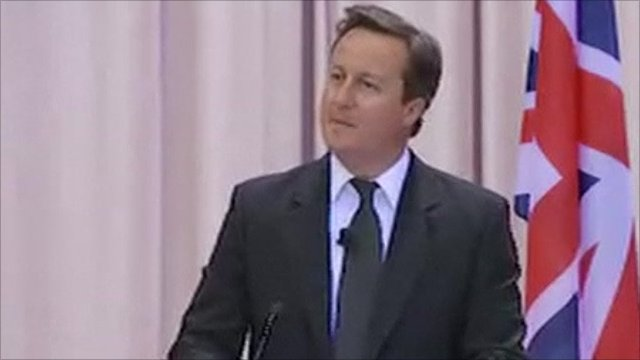 David Cameron in Moscow