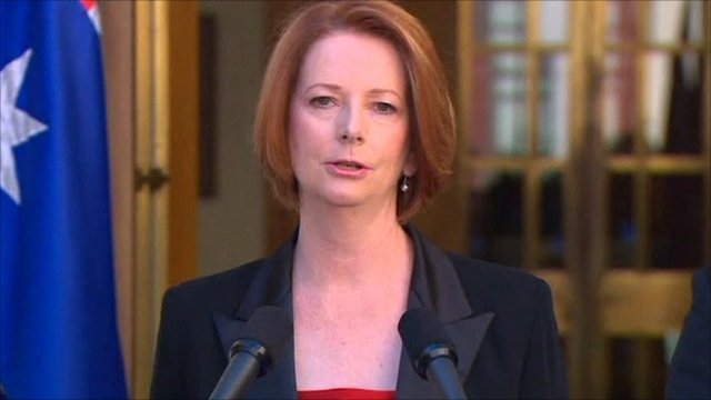 Australian prime minister, Julia Gillard