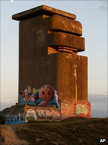 Blockaus BA22 Barbara, part of the Atlantic Wall, in Bayonne, southwestern France
