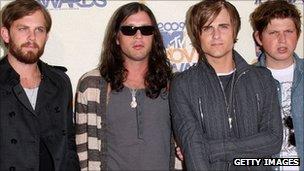 Left - right: Caleb Followil, Nathan Followill, Jared Followill and Matthew Followill