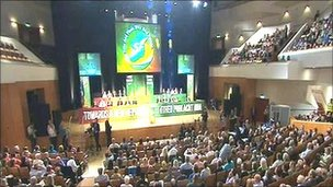 Sin  Fein ard fheis at the Waterfront Hall