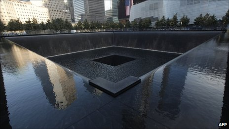 The 9/11 memorial, Sunday 11 September 2001