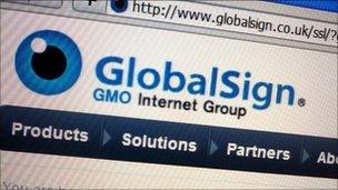 GlobalSign website