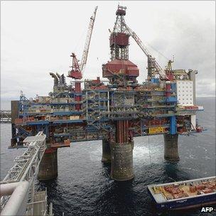 Sleipner gas platform