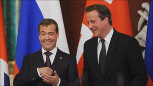 Dmitri Medvedev and David Cameron