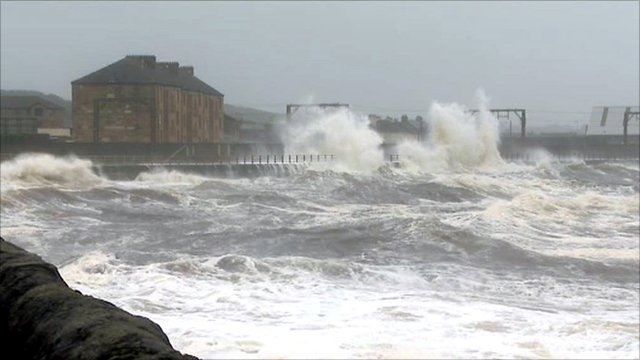 Stormy sea in Saltcoats