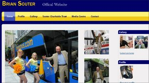Screengrab of Briansouter.com, Brian Souter