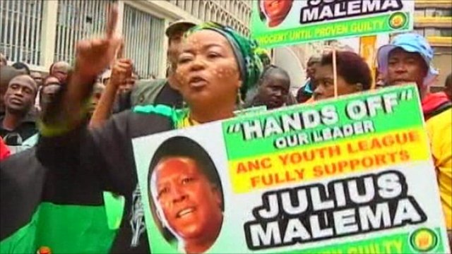Malema supporters in South Africa