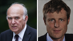 Vince Cable and Zac Goldsmith
