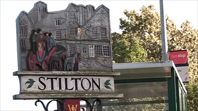 Stilton village sign